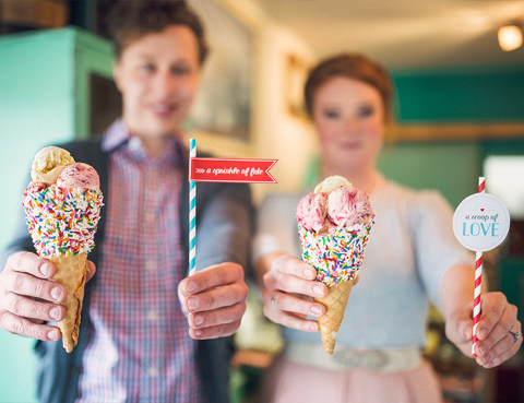 Ice cream parlor themed party event decor rental items from Party Mood