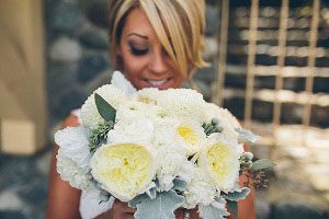 bride styled in BC