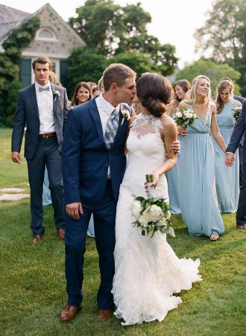 fashionable wedding attire