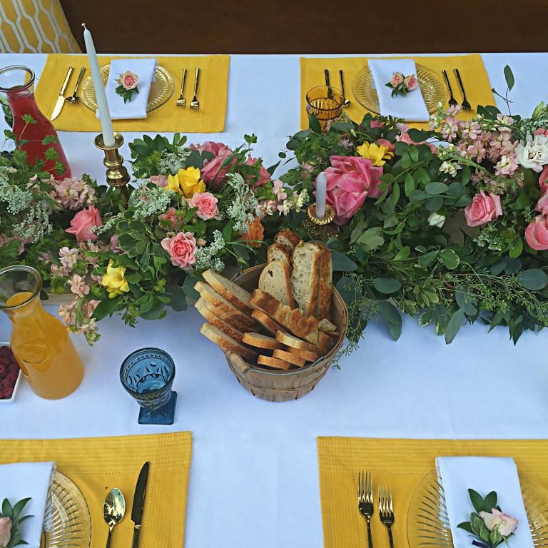 floral decor in Victoria garden party