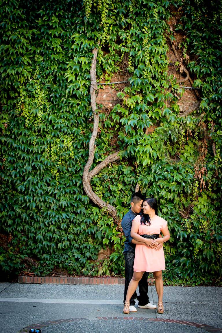 Victoria engagement photos of couple in Bastion Square by Jen Steele Photo & Film