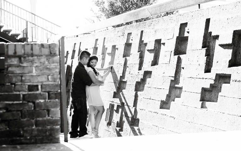 Victoria engagement photo in Bastion Square by Jen Steele Photo & Film