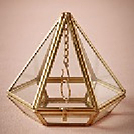 "Wedding Decor Rental Item ""Geometric Brass Ring Holder"" by Party Mood."