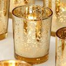 Mercury Glass Votive Holder Wedding Decor Rental from Party Mood.