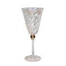Gold ball wine glass wedding decor rental
