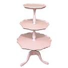 Three tier pink cake stand wedding decor rental item