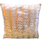 Pink and Gold Art Deco Style Accent Pillow wedding decor rental item.
