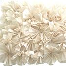 Cream Ruffled Accent Pillow wedding decor rental item.