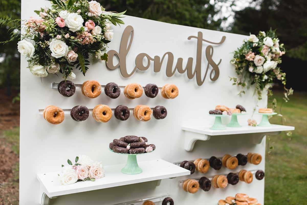 Donut Wall A Sweet Treat Wedding Day Trend Party Mood